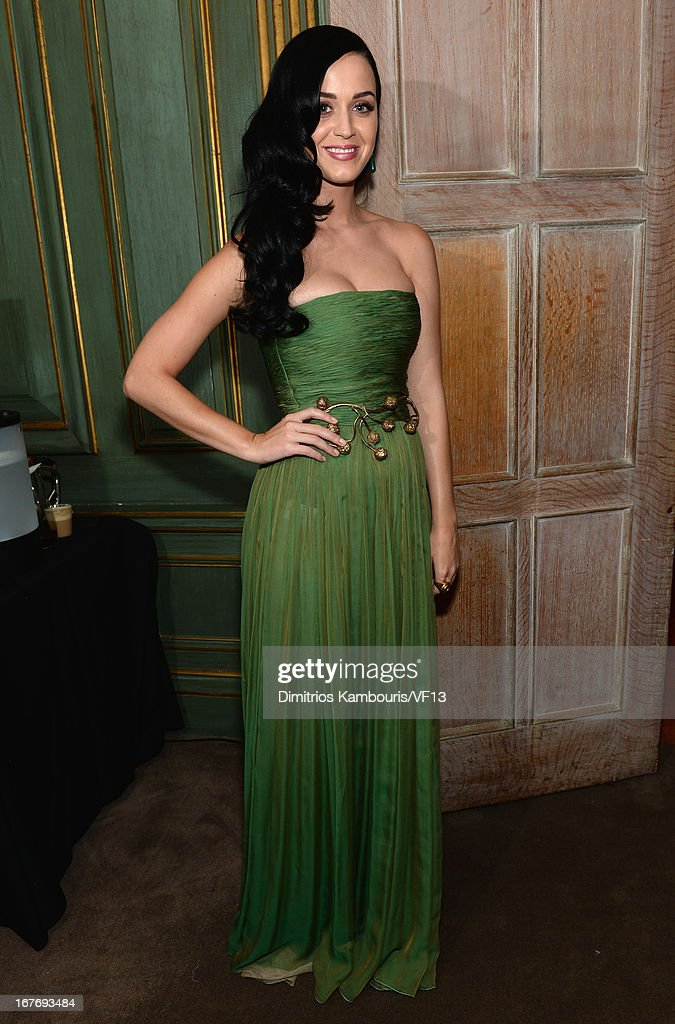 Katy Perry attends the Bloomberg & Vanity Fair cocktail reception following the 2013 WHCA Dinner at the residence of the French Ambassador on April 27, 2013 in Washington, DC.