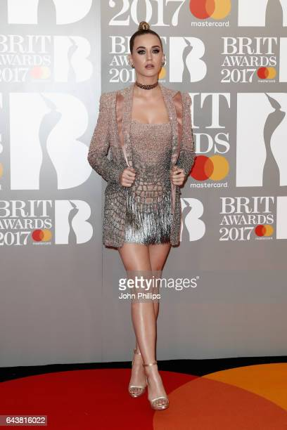 Katy Perry attends The BRIT Awards 2017 at The O2 Arena on February 22 2017 in London England