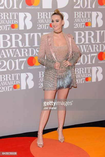 ONLY Katy Perry attends The BRIT Awards 2017 at The O2 Arena on February 22 2017 in London England