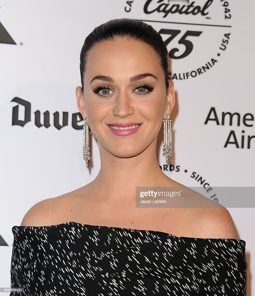 Katy Perry attends the Capitol Records 75th anniversary gala at Capitol Records Tower on November 15, 2016 in Los Angeles, California.