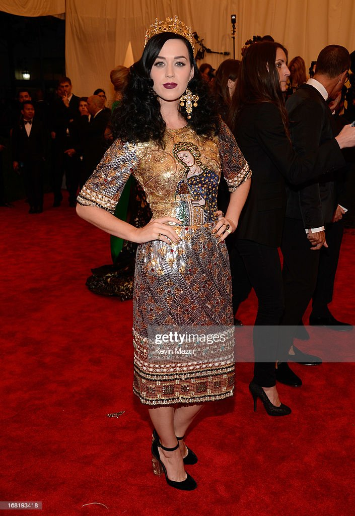 Katy Perry attends the Costume Institute Gala for the 'PUNK: Chaos to Couture' exhibition at the Metropolitan Museum of Art on May 6, 2013 in New York City.