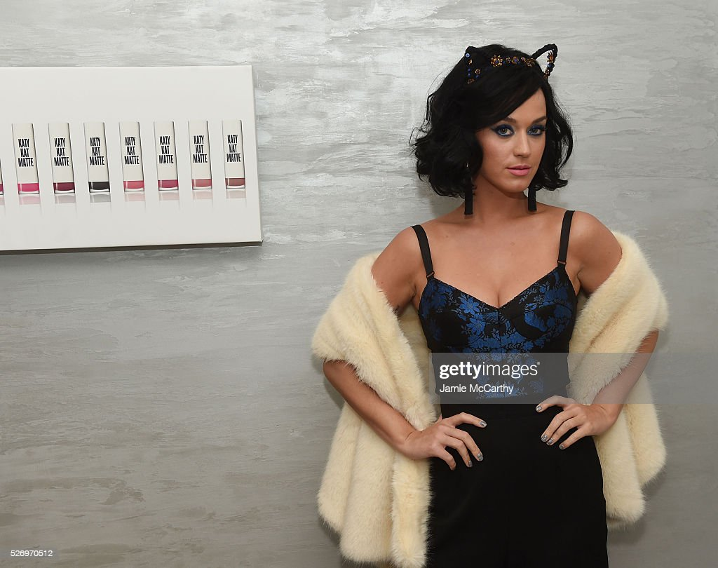 Katy Perry attends the COVERGIRL Katy Kat Matte launch at The Waterfall Mansion on May 1, 2016 in New York City.
