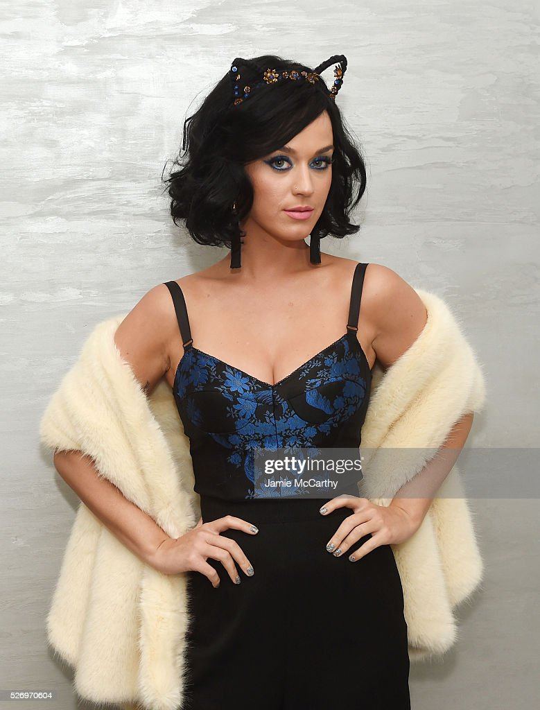 <a gi-track='captionPersonalityLinkClicked' href=/galleries/search?phrase=Katy+Perry&family=editorial&specificpeople=599558 ng-click='$event.stopPropagation()'>Katy Perry</a> attends the COVERGIRL Katy Kat Matte launch at The Waterfall Mansion on May 1, 2016 in New York City.