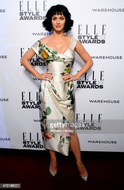 Katy Perry attends the Elle Style Awards 2014 at one Embankment on February 18 2014 in London England