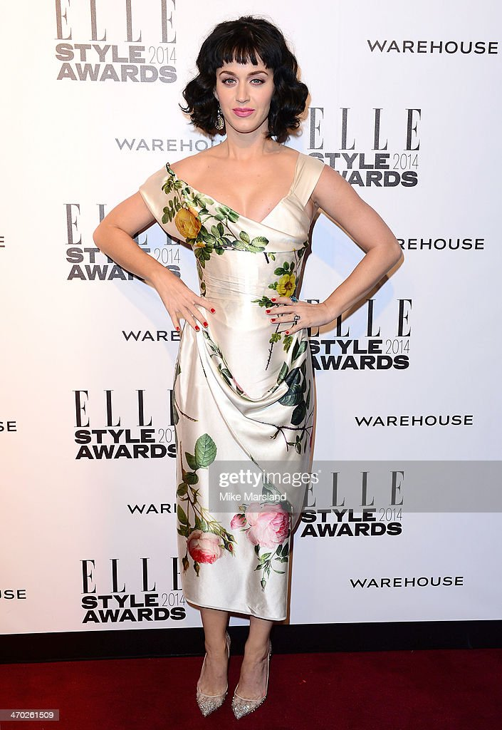 <a gi-track='captionPersonalityLinkClicked' href=/galleries/search?phrase=Katy+Perry&family=editorial&specificpeople=599558 ng-click='$event.stopPropagation()'>Katy Perry</a> attends the Elle Style Awards 2014 at One Embankment on February 18, 2014 in London, England.