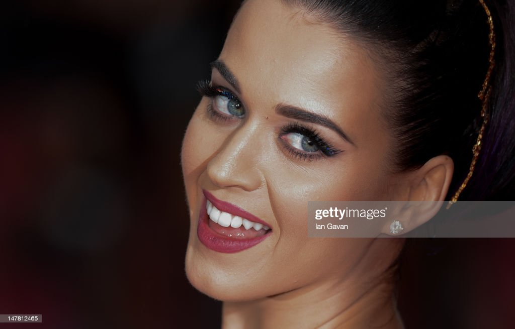 Katy Perry attends the European Premiere of 'Katy Perry Part Of Me' at Empire Leicester Square on July 3, 2012 in London, England.