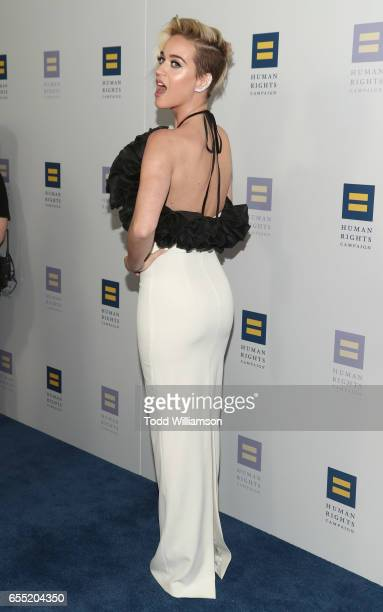 Katy Perry attends the Human Rights Campaign's 2017 Los Angeles Gala Dinner at JW Marriott Los Angeles at LA LIVE on March 18 2017 in Los Angeles...