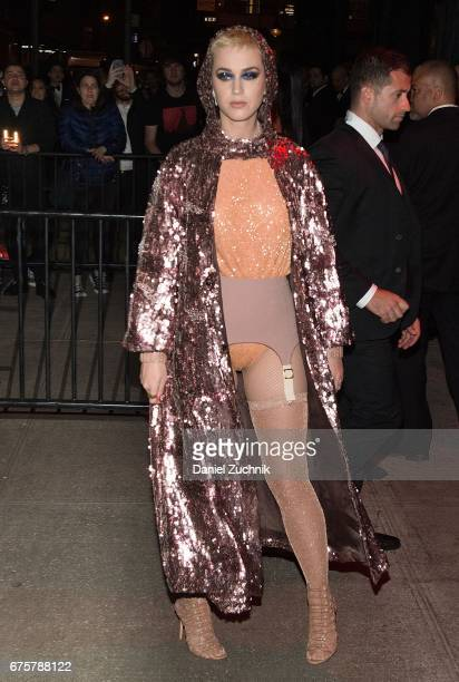 Katy Perry attends the Marc Jacobs afterparty of the Rei Kawakubo/Comme des Garcons Art Of The InBetween Costume Institute Gala at the Boom Boom Room...