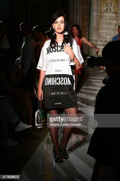 Katy Perry attends the Moschino show during the 88 Pitti Uomo on June 18 2015 in Florence Italy