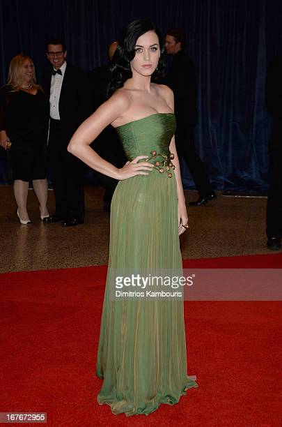 Katy Perry attends the White House Correspondents' Association Dinner at the Washington Hilton on April 27 2013 in Washington DC