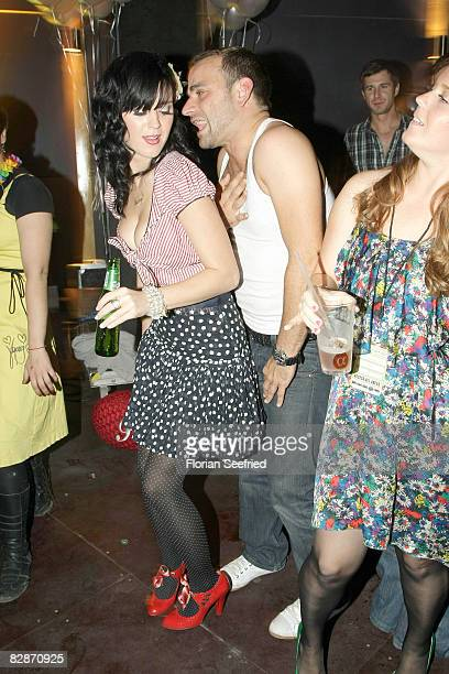Katy Perry guest and her sister Angela dance at the Katy Perry After Show Party at the Postbahnhof on September 17 2008 in Berlin Germany