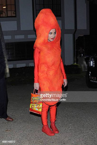 Katy Perry is seen at Kate Hudson's annual Halloween party on October 30 2014 in Los Angeles California