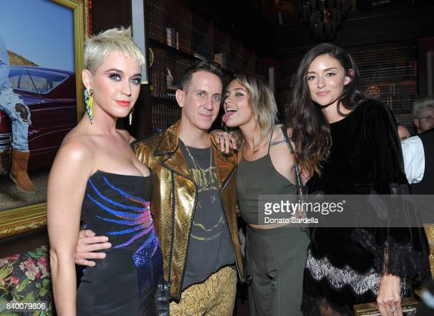 Katy Perry Jeremy Scott Paris Jackson and Caroline D'Amore at UGG x Jeremy Scott Collaboration Launch Event at The hwood Group's 'Poppy' on August 27...