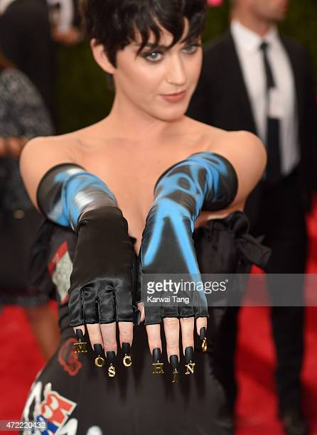 Katy Perry jewellery detail attends the 'China Through The Looking Glass' Costume Institute Benefit Gala at Metropolitan Museum of Art on May 4 2015...