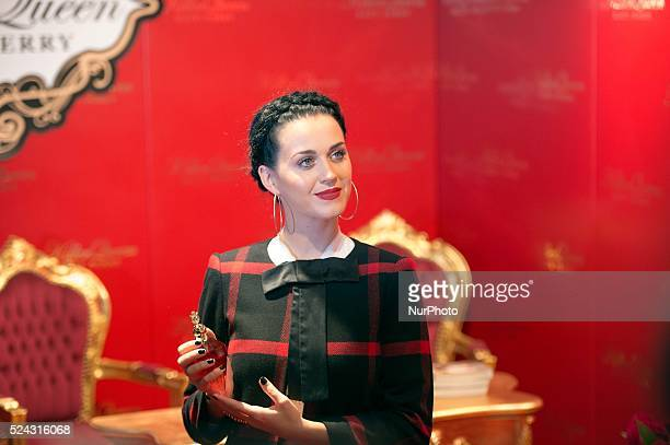 Katy Perry launches the new fragrance 'Killer Queen' in 'Douglas' store in Berlin on Sept 25 2013 Photo Goncalo Silva/NurPhoto