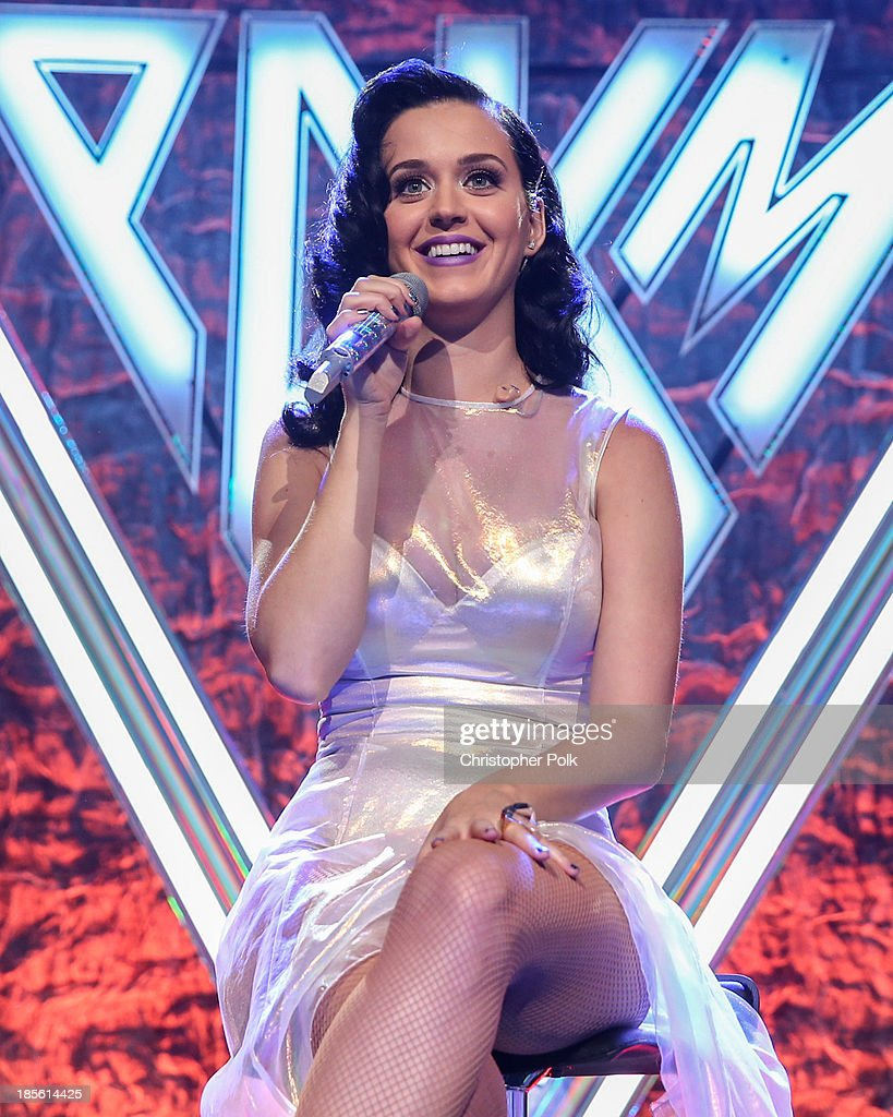 <a gi-track='captionPersonalityLinkClicked' href=/galleries/search?phrase=Katy+Perry&family=editorial&specificpeople=599558 ng-click='$event.stopPropagation()'>Katy Perry</a> on stage at the <a gi-track='captionPersonalityLinkClicked' href=/galleries/search?phrase=Katy+Perry&family=editorial&specificpeople=599558 ng-click='$event.stopPropagation()'>Katy Perry</a> iHeartRadio album release party on October 22, 2013 in Los Angeles, California.