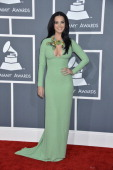 Katy Perry on the red carpet at THE 55TH ANNUAL GRAMMY AWARDS The music industry's premier event will take place Sunday Feb 10 at STAPLES Center in...