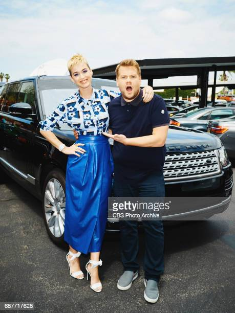 Katy Perry performs a Carpool Karaoke during 'The Late Late Show with James Corden' Monday May 22 2017 On The CBS Television Network