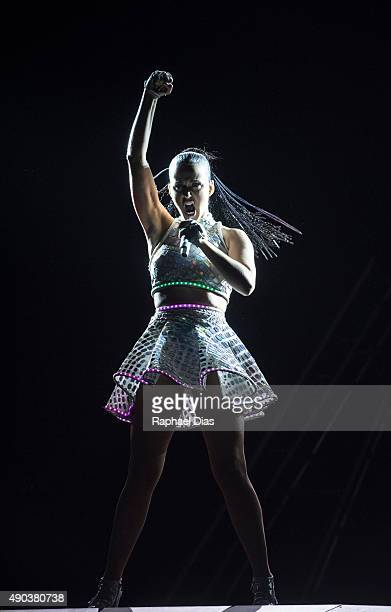 Katy Perry performs at 2015 Rock in Rio on September 27 2015 in Rio de Janeiro Brazil