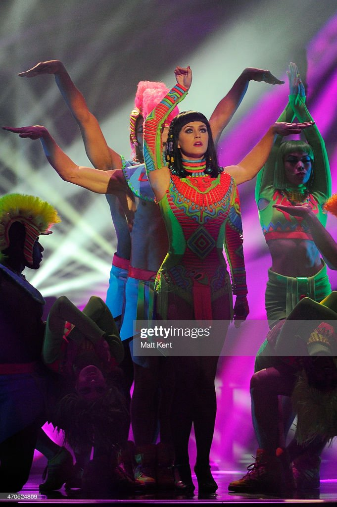 <a gi-track='captionPersonalityLinkClicked' href=/galleries/search?phrase=Katy+Perry&family=editorial&specificpeople=599558 ng-click='$event.stopPropagation()'>Katy Perry</a> performs at The BRIT Awards 2014 at 02 Arena on February 19, 2014 in London, England.