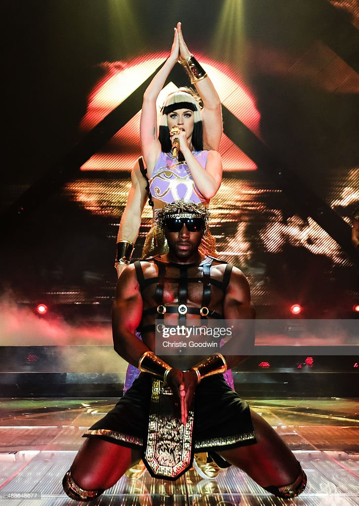 <a gi-track='captionPersonalityLinkClicked' href=/galleries/search?phrase=Katy+Perry&family=editorial&specificpeople=599558 ng-click='$event.stopPropagation()'>Katy Perry</a> performs on stage during the opening night of the Prismatic World Tour at Odyssey Arena on May 7, 2014 in Belfast, Northern Ireland.