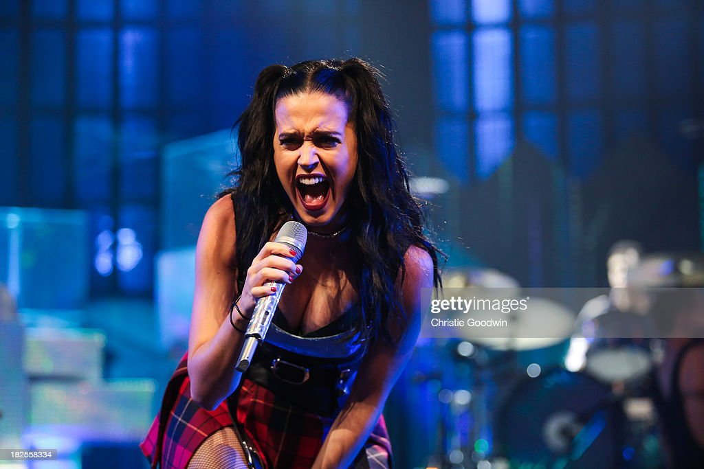<a gi-track='captionPersonalityLinkClicked' href=/galleries/search?phrase=Katy+Perry&family=editorial&specificpeople=599558 ng-click='$event.stopPropagation()'>Katy Perry</a> performs on stage on Day 30 of iTunes Festival 2013 at The Roundhouse on September 30, 2013 in London, England.