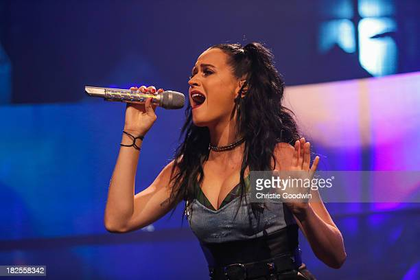 Katy Perry performs on stage on Day 30 of iTunes Festival 2013 at The Roundhouse on September 30 2013 in London England