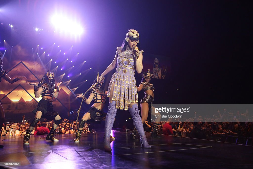 <a gi-track='captionPersonalityLinkClicked' href=/galleries/search?phrase=Katy+Perry&family=editorial&specificpeople=599558 ng-click='$event.stopPropagation()'>Katy Perry</a> performs on the opening night of her Prismatic World Tour at Odyssey Arena on May 7, 2014 in Belfast, Northern Ireland.