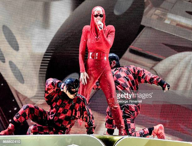 Katy Perry performs onstage during her 'Witness The Tour' at Air Canada Centre on October 31 2017 in Toronto Canada