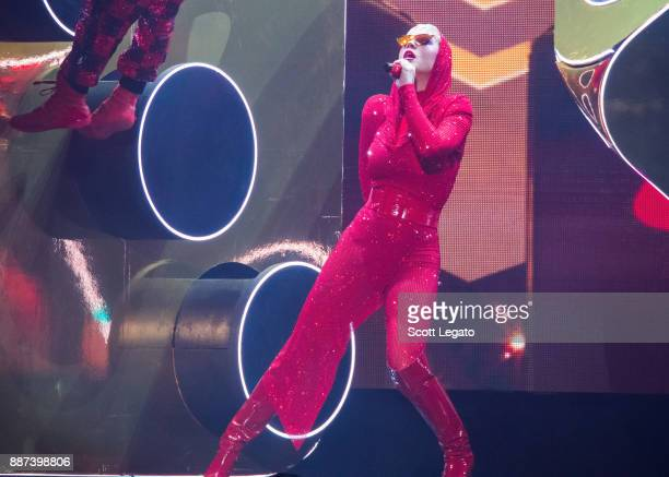 Katy Perry performs onstage during her 'Witness The Tour' at Little Caesars Arena on December 6 2017 in Detroit Michigan