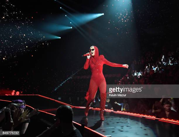 Katy Perry performs onstage during her 'Witness The Tour' tour opener at Bell Centre on September 19 2017 in Montreal Canada