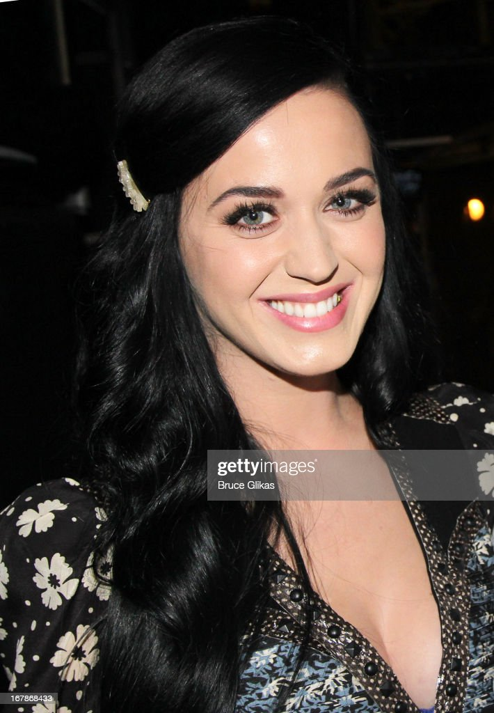 <a gi-track='captionPersonalityLinkClicked' href=/galleries/search?phrase=Katy+Perry&family=editorial&specificpeople=599558 ng-click='$event.stopPropagation()'>Katy Perry</a> poses backstage at the Tony Nominated hit musical 'Kinky Boots' on Broadway at The Al Hirshfeld Theater on May 1, 2013 in New York City.