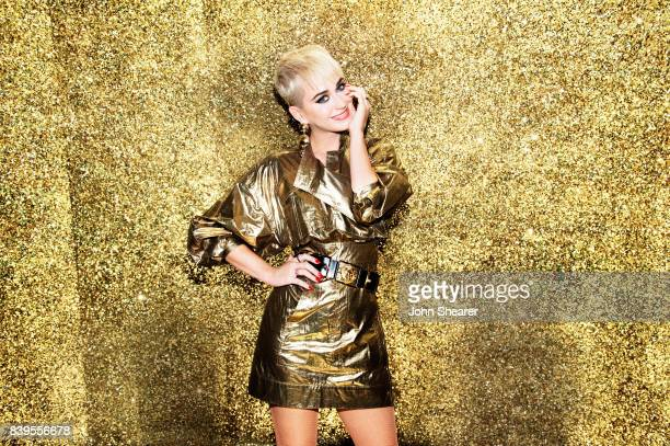 Katy Perry poses backstage during rehearsals for the 2017 MTV Video Music Awards at The Forum on August 25 2017 in Inglewood California