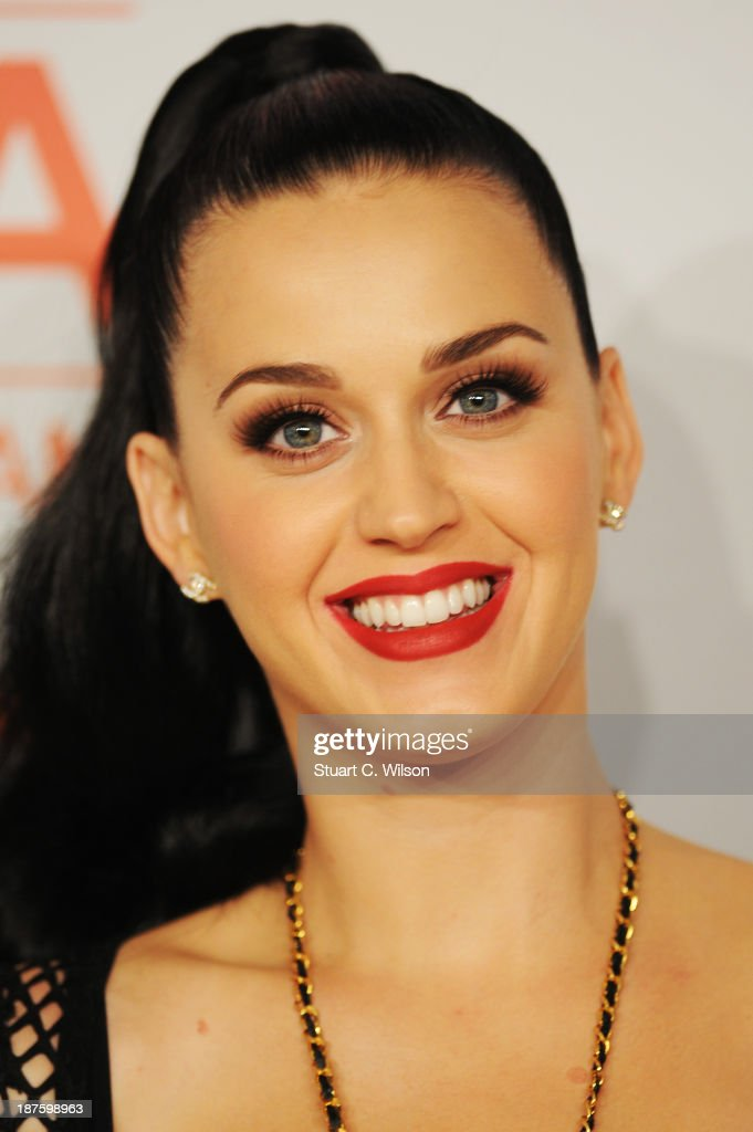 <a gi-track='captionPersonalityLinkClicked' href=/galleries/search?phrase=Katy+Perry&family=editorial&specificpeople=599558 ng-click='$event.stopPropagation()'>Katy Perry</a> poses in the photo room during the MTV EMA's 2013 at the Ziggo Dome on November 10, 2013 in Amsterdam, Netherlands.