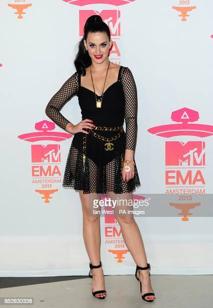 Katy Perry receives the award for Best Female at the 2013 MTV Europe Music Awards at the Ziggo Dome Amsterdam Netherlands