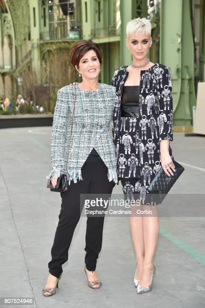Katy Perry with her mother Mary Perry attend the Chanel Haute Couture Fall/Winter 20172018 show as part of Haute Couture Paris Fashion Week on July 4...
