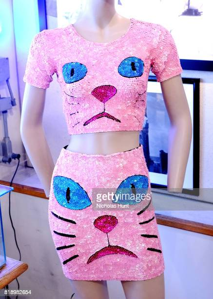 Katy Perry's pink sequin cat top skirt worn at 2014 MTV Europe Music Awards for auction at Gotta Have It store on July 19 2017 in New York City