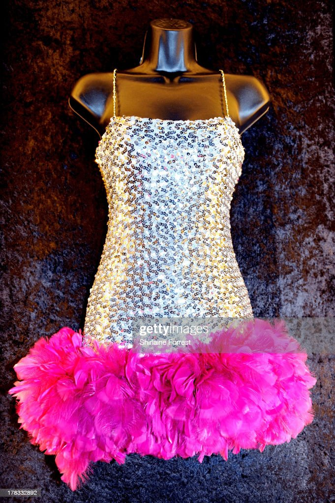 Katy Perry's sequined dress as worn at her Hollywood Palladium show on the 'Hello Katy' tour in 2009 is displayed as part of Hard Rock Cafe's Hard Rock Couture exhibition on August 29, 2013 in Manchester, England.