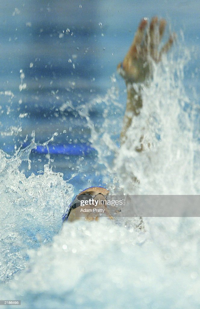 Katy Sexton of Great Britain in action during the Womens 50m Breaststroke Heats during the 10th Fina World Swimming Championships 2003 at Palau Sant Jordi on July 23, 2003 in Barcelona, Spain.