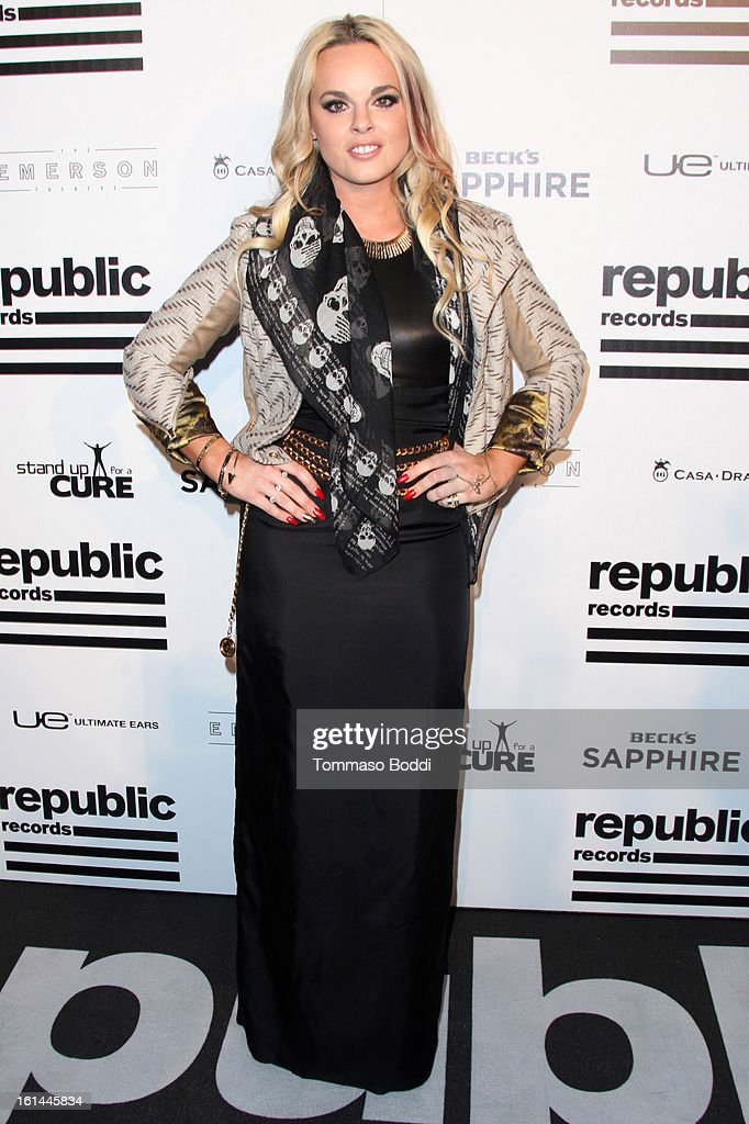 Katy Tiz attends the Republic Records post GRAMMY party held at The Emerson Theatre on February 10, 2013 in Hollywood, California.