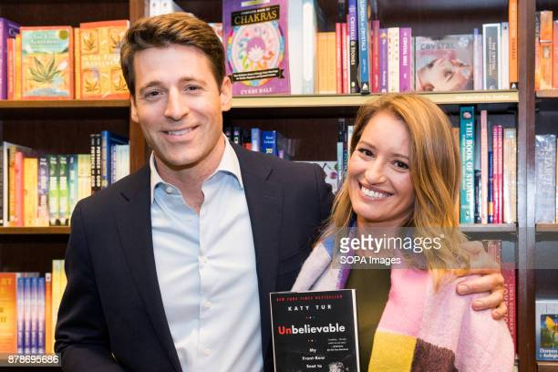 Katy Tur NBC correspondent and author of 'Unbelievable My FrontRow Seat to the Craziest Campaign in American History' and CBS News correspondent Tony...