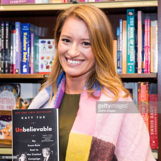 Katy Tur NBC correspondent and author of 'Unbelievable My FrontRow Seat to the Craziest Campaign in American History' at Barnes Noble on the Upper...