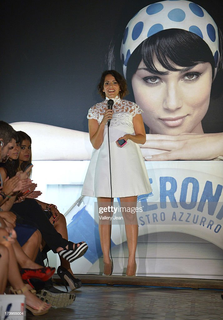 Katya Bravo during the Peroni Emerging Designer Series presented by Fashion Group on July 17, 2013 in Miami, Florida.