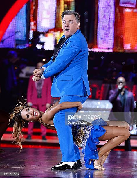 Katya Jones and Ed Balls attend the photocall for the 'Strictly Come Dancing' live tour at the Barclaycard Arena on January 19 2017 in Birmingham...