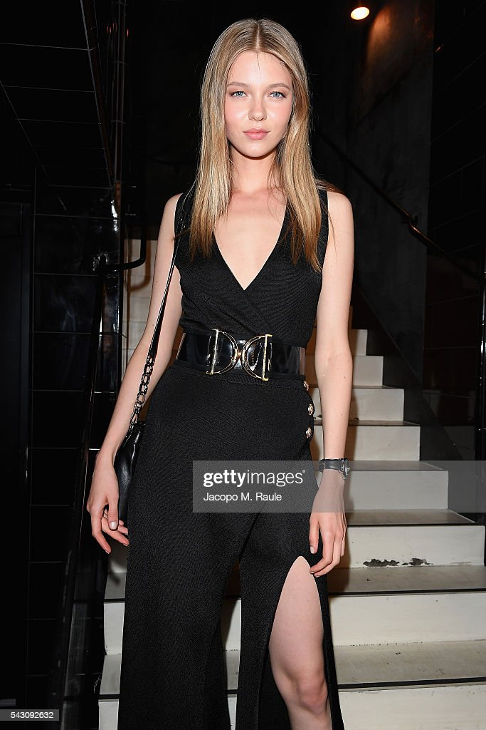 Katya Ledneva attends the Balmain Menswear Spring/Summer 2017 after party as part of Paris Fashion Week at Les Bains on June 25, 2016 in Paris, France.