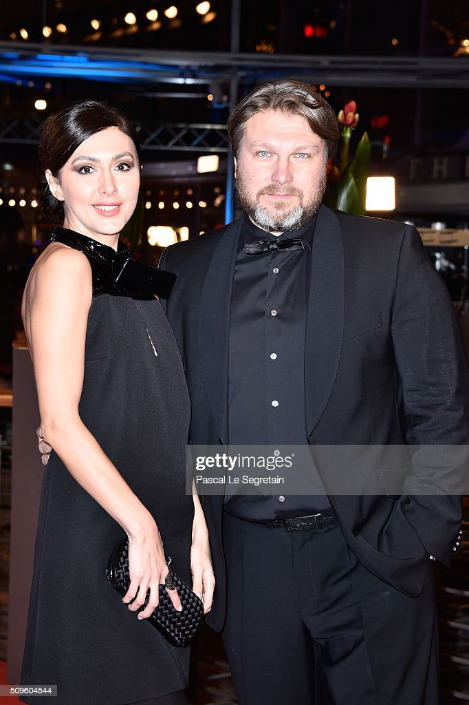 Katya Mtsitouridze and a guest attend the 'Hail, Caesar!' premiere during the 66th Berlinale International Film Festival Berlin at Berlinale Palace on February 11, 2016 in Berlin, Germany.