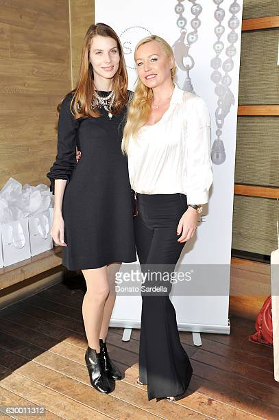 Katya Teper and guest attend Sabine Brouillet's jewelry pop up hosted by Nikita Kahn and Katya Teper at Nobu Malibu on December 14 2016 in Malibu...