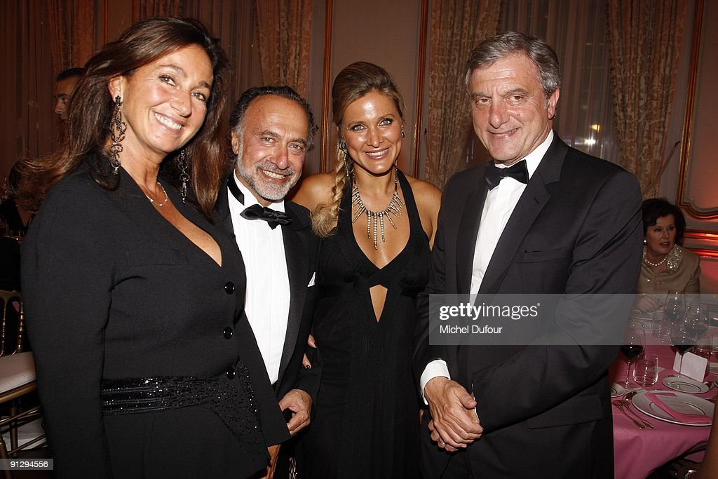 Katya Toledano, Olivier Dassault and his wife and <a gi-track='captionPersonalityLinkClicked' href=/galleries/search?phrase=Sidney+Toledano&family=editorial&specificpeople=758670 ng-click='$event.stopPropagation()'>Sidney Toledano</a> attend the Charity Dinner for Cardiovascular Research at Hotel Dassault on September 30, 2009 in Paris, France.