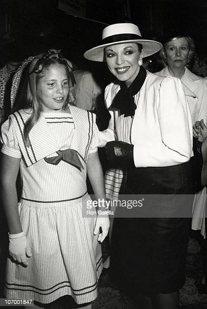 Katyanna Kass and Joan Collins during 3rd Annual Young Musicians Foundation's Celebrity MotherDaughter Fashion Show March 8 1984 at Beverly Hilton...