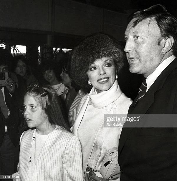 Katyanna Kass Joan Collins and Ron Kass during 1983 Young Musicians Annual Celebrity Mother Daughter Fashion Show Luncheon at Beverly Hilton Hotel in...